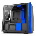 CAJA MINITORRE/MINI-ITX NZXT H200I USB3.1 NEGRO /AZUL | Quonty.com | CA-H200W-BL