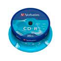 CD-R VERBATIM 700MB 80MIN 52X 25UNDS | Quonty.com | 43432