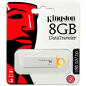 PENDRIVE KINGSTON 8GB USB3.0 DT G4 BLANCO | Quonty.com | DTIG4/8GB