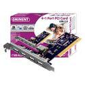 TARJETA COMUNICACIONES EMINENT EW1105 PCI 5PTOS USB2.0 | Quonty.com | EW1105