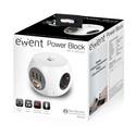 Regleta Cubo Ewent Ew3939 3tomas + 3usb C/Interruptor Blanca | Quonty.com | EW3939
