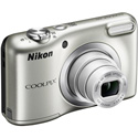 "CAMARA DIGITAL NIKON COOLPIX A10 PLATA - 16.1MPX - ZOOM OPTICO 5X - TFT 2.7""/6.7CM - VIDEO 720P HD - ESTABIL. DIGITAL - SD - 2xAA + FUNDA 