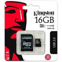 MICROSD KINGSTON 16GB CL10 UHS-I ADAPTADOR SD | Quonty.com | SDC10G2/16GB