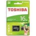 MICROSD TOSHIBA 16GB CL4 ADAPTADOR SD | Quonty.com | THN-M102K0160M2